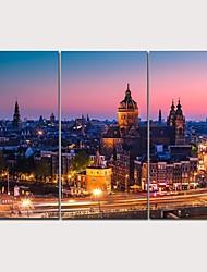 abordables -Imprimé Impression sur Toile - Photographie Réalisme Moderne Trois Panneaux