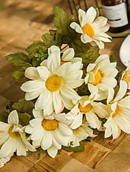 Χαμηλού Κόστους -Ψεύτικα λουλούδια 1 Κλαδί Κλασσικό Γάμος Ποιμενικό Στυλ Μαργαρίτες Αιώνια Λουλούδια Λουλούδι για Τραπέζι