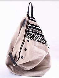 hesapli -Kadın's Çantalar Polyester sırt çantası Fermuar için Günlük Bahar Siyah / Haki