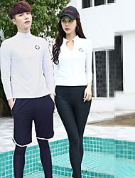 cheap -JIAAO Women's Rash Guard Dive Skin Suit Thermal / Warm Ultra Light (UL) Wearable Terylene Full Body Swimwear Beach Wear Swimwear Solid Colored 2-Piece Swimming / High Elasticity