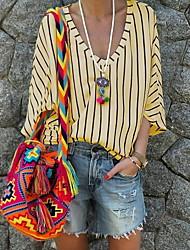 halpa -naisten eu / us-kokoinen ohut paita - kukka pyöreä kaula