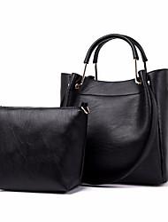 hesapli -Kadın's Çantalar PU Çanta Setleri 2 Adet Çanta Seti Fermuar için Günlük Bahar Koyu Kahverengi / Şarap / Koyu Kırmızı