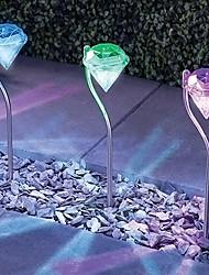 hesapli -1pc 0.2 W Çimen Işık Güneş Enerjisi Beyaz 1.5 V Açık Hava Aydınlatma / Avlu / Bahçe 1 LED Boncuklar