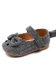 halpa -Tyttöjen Kengät Synteettinen Kevät Comfort / Ensikengät Tasapohjakengät varten Vauvat Musta / Ruskea