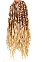 Недорогие -Волосы для кос Кудрявый Вязание крючком для волос / Синтетические экстензии Искусственные волосы 1 ед. косы волос Черный 8 дюймов синтетический / Парик Faux Locs / Искусственные дреды в технике Кроше