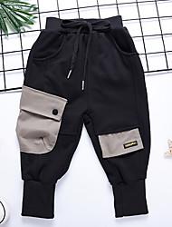 abordables -Enfants Garçon Actif / Basique Couleur Pleine Lacet / Cordon Coton Pantalons Noir