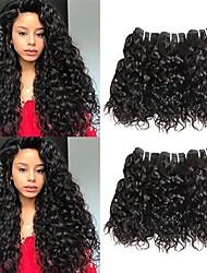 tanie -6 pakietów Włosy malezyjskie Wodne fale Zestawy w 100% Remy Weave Nakrycie głowy Fale w naturalnym kolorze Pakiet włosów 8-28 in Kolor naturalny Ludzkie włosy wyplata Bezzapachowy Jedwabisty Seksowna
