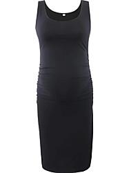 preiswerte -Damen Grundlegend A-Linie Kleid Solide Mini