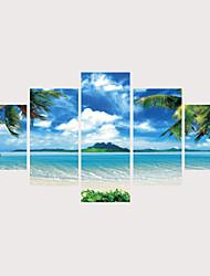 abordables -Imprimé Impressions sur toile roulées Impression sur Toile - Nature & Grand Air Photographie Contemporain Moderne Cinq Panneaux