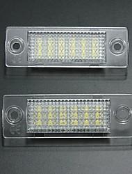 Недорогие -2pcs Автомобиль Лампы 18 Светодиодная лампа Подсветка для номерного знака Назначение Volkswagen Touran / Passat / Jetta 2001 / 2002 / 2003