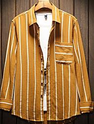 abordables -chemise homme - col chemise rayé