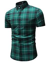billiga -Mäns slanka skjorta - kontrollera skjortkrage