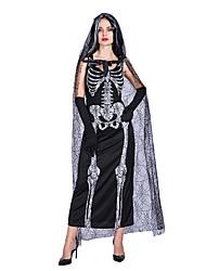 5f94be41c9a0 Skelett / Dödskalle Ghost Klänningar Cosplay Kostymer / Dräkter Vuxna Dam  Klänningar Halloween Halloween Karnival Maskerad Festival / högtid Polyster  Svart ...