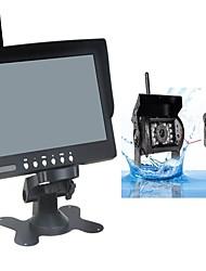Недорогие -7 дюймовый ЖК-дисплей КМОП-структура Беспроводное 130 градусов Камера заднего вида / Автомобильный реверсивный монитор Ночное видение / Многофункциональный дисплей для Автомобиль / Автобус / Грузовик
