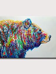ราคาถูก -ภาพวาดสีน้ำมันแขวนทาสี มือวาด - แอ็ปสแต็ก งานศิลปะป๊อป คลาสสิก ที่ทันสมัย โดยไม่ต้องภายในกรอบ