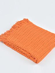 levne -Multifunkční deky, Jednobarevné / Damašek / Klasický Akrylová vlákna Ohřívač Třásně Měkký povrch přikrývky