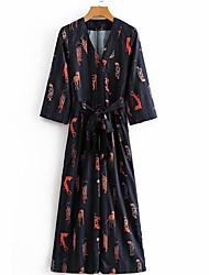 Χαμηλού Κόστους -Γυναικεία Θήκη Φόρεμα Μίντι Λαιμόκοψη V