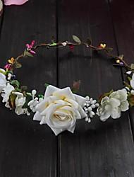 8c2adff294b7 Tyg pannband / Huvudbonad / DIY Headpieces med Blomma 1 st. Bröllop /  Utomhus Hårbonad