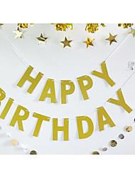 זול -מסיבת יום הולדת / יום הולדת אביזרי מפלגה עיצוב מיוחד לחתונה / קישוטים / קישוטי נייר נצנוץ חומר ידידותי לסביבה יומהולדת
