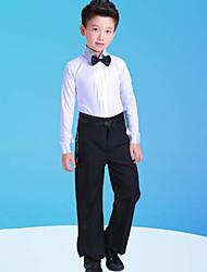 economico -Balli latino-americani / Abbigliamento da ballo per bambini Completi Da ragazzo Addestramento / Prestazioni Poliestere Fiocco (fiocchi) / Più materiali Manica lunga Top / Pantaloni / Collare