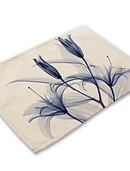 cheap -Contemporary Nonwoven Square Placemat Printing Eco-friendly Table Decorations 32*42 pcs