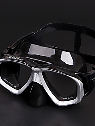 Недорогие -XUHAI Дайвинг Маски Противо-туманное покрытие Два окна - Плавание Назначение Взрослые Черный / Сухая трубка