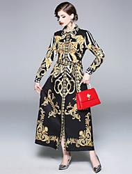 preiswerte -Damen Boho Swing Kleid - Druck, Paisley-Muster Maxi