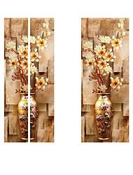Недорогие -Дверные наклейки - 3D наклейки Абстракция / Натюрморт Гостиная / Спальня