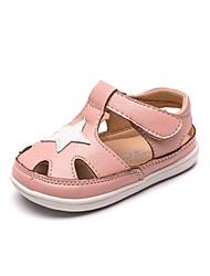 halpa -Tyttöjen Kengät Mikrokuitu Kesä Comfort Sandaalit varten Taapero Valkoinen / Musta / Pinkki