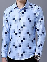 preiswerte -Herrn Einfarbig Hemd Patchwork