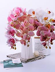 abordables -Fleurs artificielles 1 Une succursale Classique Accessoires de Scène Européen Orchidées Fleurs éternelles Fleur de Table