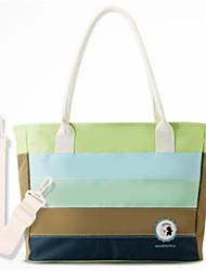 رخيصةأون -البوليستر حقيبة حفاضات سحاب أخضر