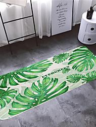 abordables -1pc Campestre Esteras de Baño Coral Velve Estampado Floral 5mm Baño Antideslizante / Fácil de limpiar