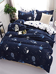 お買い得  -布団カバーセット 3D / 贅沢 ポリスター プリント 4個Bedding Sets