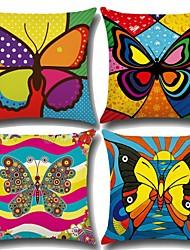 abordables -4.0 pcs Coton / Lin Taie d'oreiller, Style Bohème Papillon Artistique Style artistique Baroque
