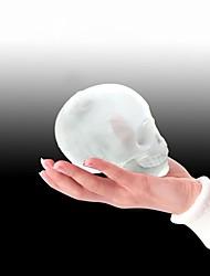 Недорогие -большая форма черепа 3d кубик льда производитель бар партии силиконовые лотки шоколад плесень с воронкой