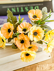 Χαμηλού Κόστους -Ψεύτικα λουλούδια 3 Κλαδί Κλασσικό Γάμος Λουλούδια Γάμου Αιώνια Λουλούδια Παπαρούνα Λουλούδι για Τραπέζι