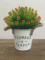 abordables -Fleurs artificielles 0 Une succursale Classique Moderne Vase Fleur de Table
