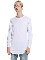 abordables -Tee-shirt Taille EU / US Homme, Couleur Pleine Col Arrondi