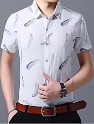 baratos -Homens Camisa Social Gráfico Azul XXXXL
