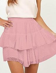 baratos -mulheres acima do joelho uma saias de linha - cor sólida