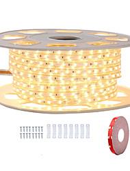 billige -KWB 8m Fleksible LED-lysstriber 480 lysdioder SMD5050 1Sæt monteringsbeslag Varm hvid / Hvid / Rød Vandtæt / Chippable / Dekorativ 220-240 V 1set