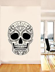 Недорогие -алмаз цветок лоза голова стикер стены декоративные хэллоуин арт обои