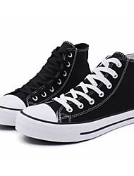 cheap -Men's Comfort Shoes Canvas Spring Sneakers Black / Black / White