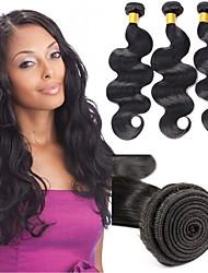 economico -6 pacchi Indiano Ondulato naturale capelli naturali Remy Ciocche a onde capelli veri Bundle di capelli Un pacchetto di soluzioni 8-28inch Colore Naturale Tessiture capelli umani Neonato Carino Mini