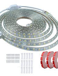 olcso -KWB 15 m LED-es szalagfények 900 LED SMD5050 1A rögzítő tartóelemet állítsa be Meleg fehér / Fehér / Piros Vízálló / Cuttable / Dekoratív 220-240 V 1set