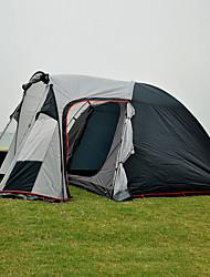 Недорогие -3 человека Семейный кемпинг-палатка На открытом воздухе С защитой от ветра Дожденепроницаемый Пригодно для носки Двухслойные зонты Карниза Палатка 1500-2000 mm для