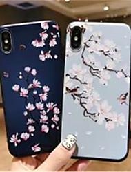 economico -Custodia Per Apple iPhone X / iPhone XS Max Effetto ghiaccio / Fantasia / disegno Per retro Fiore decorativo Morbido Gel di silice per iPhone XS / iPhone XR / iPhone XS Max