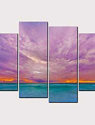 cheap -Print Rolled Canvas Prints - Landscape Aquatic & Nautical Classic Modern Four Panels