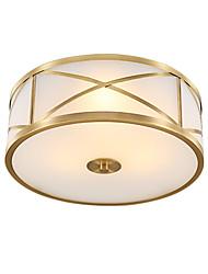رخيصةأون -JSGYlights 4-الضوء أضواء على السقف ضوء محيط النحاس نحاس زجاج تصميم جديد 110-120V / 220-240V